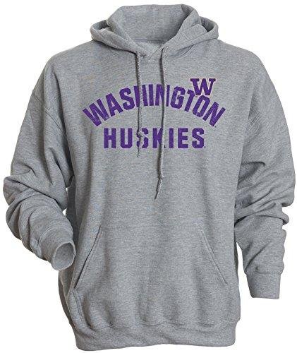 NCAA Washington Huskies Men's Basic Fleece Hoodie, Small, Athletic Heather