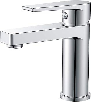 Dutrix Wasserhahn Bad Waschtischarmatur Chrom Bad Mischbatterie Einhebelmischer Fur Badezimmer Waschtisch Waschbecken Armatur Moderner Stil Amazon De Baumarkt