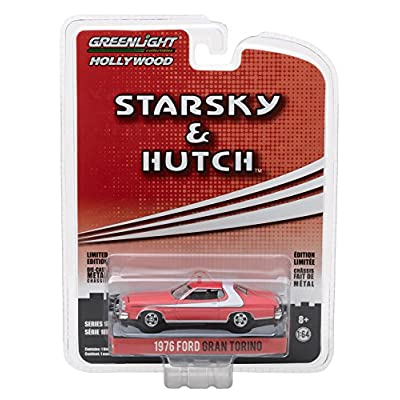 Greenlight 1:64 Hollywood Series 18 Starsky & Hutch 1976 Ford Gran Torino DieCast Vehicle: Toys & Games