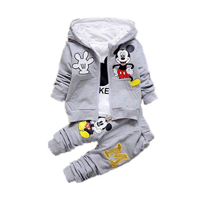 b43bff18d0360 New Children Girls Boys Fashion Clothing Sets Autumn Winter 3 Piece Suit  Hooded Coat Clothes Baby Cotton Brand Tracksuits