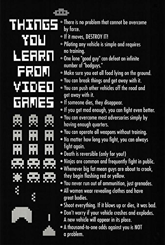 Things Learn Video Games Poster