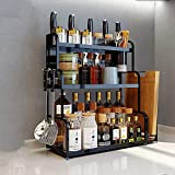 Kitchen shelf HUO Multi-Layer Wall Hanging Knife Holder Kitchen Storage Rack Multifunction (Color : Chopsticks, Size : 40CM)