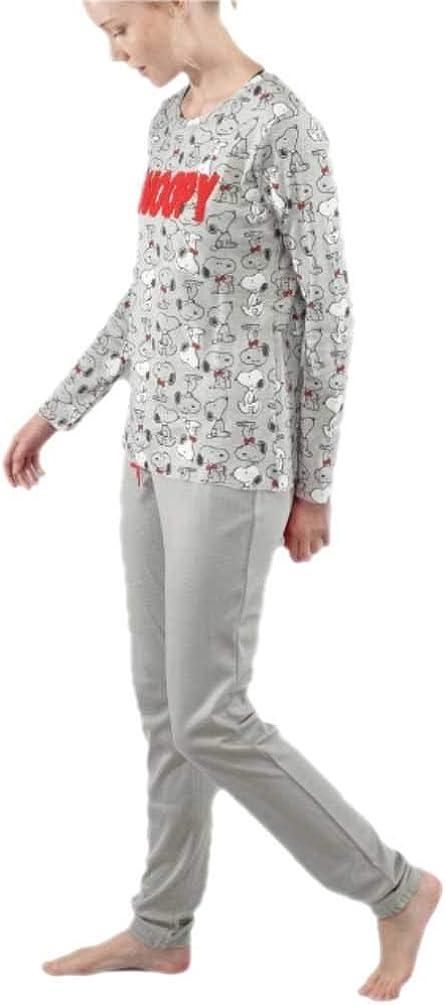 GISELA Pijama para Mujer de Invierno de Snoopy (XL)