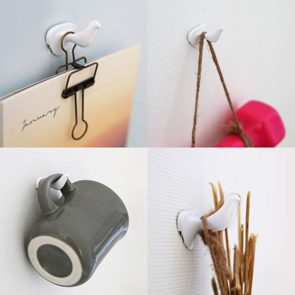 Amazon.com: HOTLISTOR - Ganchos de pared reutilizables para ...