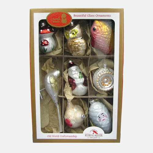 EARLY YEARS 8 piece WOODLAND Christmas Ornaments NEW Ow