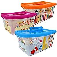 Cajas para niños, transparentes, con tapa y asa
