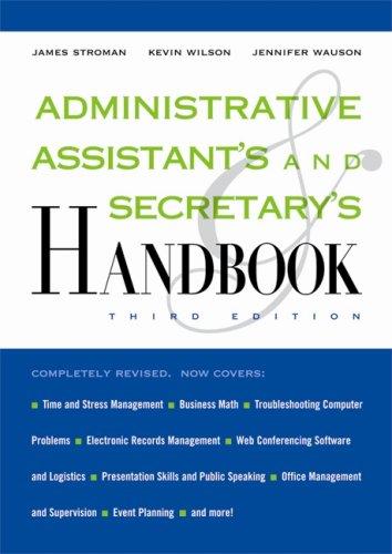 Administrative Assistant's and Secretary's Handbook -