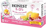 juice box berry - HONEST Kids Organic Juice Drink, Berry Berry Good Lemonade, 6.75 fl oz Pouches (Pack of 32)