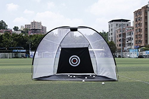 Golf Net Portable Pop Up Hitting Nets With Chipping Target – Perfect Size to Practice Your Accuracy Indoor & Outdoor