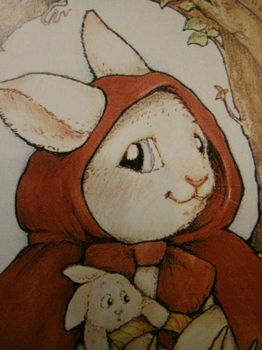 One Blank Greeting Card ..... Little Red Riding Bunny