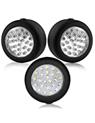 Cade 24 LED Round Magnetic Work Light Torch with Integral Han...