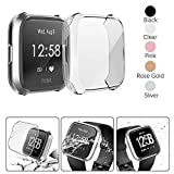 Compatible Fitbit Versa Lite Screen Protector Case, Besmon Soft TPU Watch Anti-Collision Case All-Around Protector Screen Rugged Bumper Case Cover for Fitbit Versa lite Smart Watch