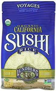 Lundberg Family Farms Organic Sushi Rice, California White, 16 Ounce (Pack of 6)