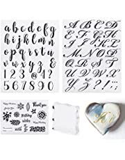 Coitak 4 PCS Alphabet Cake Stamp Tools, Alphabet Letter Fondant Stamps for Cookie Biscuit Cake Decorating, Cookie Stamp Impress