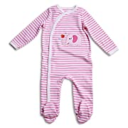 OPAWO Baby Girls' Footed Sleeper Pajama 3-6 Months Pink-08