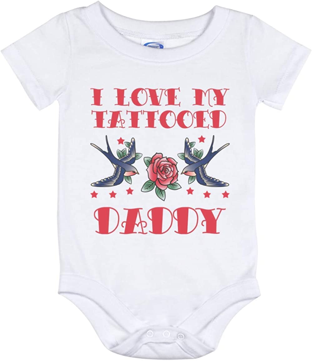 baby vest  bodysuit son daughter family nephew niece hipster baby shower gift inked tats personalised cute  894 I love my tattooed daddy
