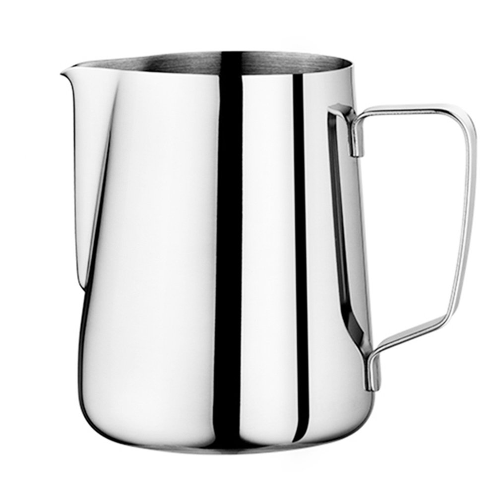 Milk Pitcher - Duolo Stainless Steel Creamer Coffee Milk Frothing Pitcher Cup With Dripless Pouring Spout - Perfect for Espresso Machine,Cappuccino Hot Milk Frother and Latte Maker (20-Ounce/600ML)