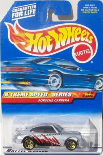 Pro Rodz Series - Mattel Hot Wheels 1999 1:64 Scale X-Treme Speed Series Silver Porsche Carrera Die Cast Car 3/4