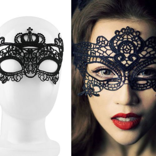 Alicenter(TM) Sexy Lady Lace Mask Eye Mask For Masquerade Ball Party Halloween Costume