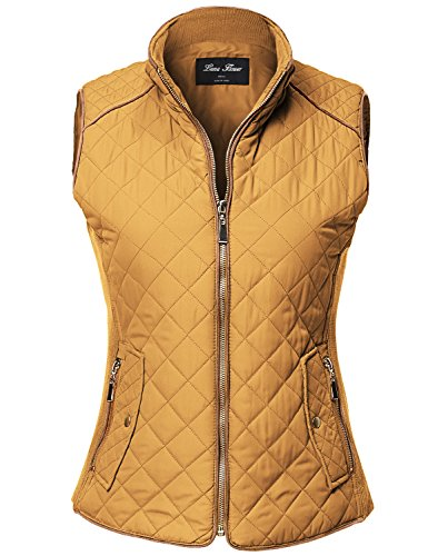 yellow quilted vest - 1