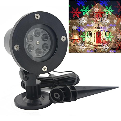 Anysell88 Christmas Decorations Snowflake Snowflake Moving Sparkling LED Landscape Laser Projector Star Light Xmas
