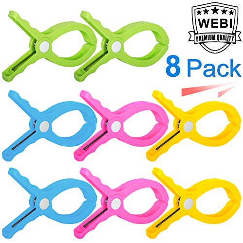 WEBI Beach Towel Clips, Jumbo Size Chair Clips Beach Chair,