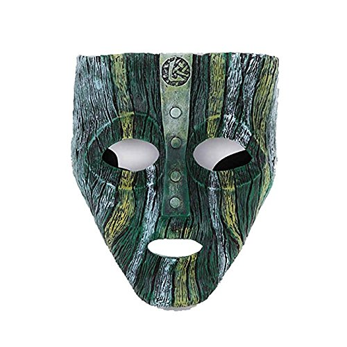 MICG Resin Loki Mask Deluxe Jim Carrey The Mask Halloween Fancy Dress Costume (Loki)]()