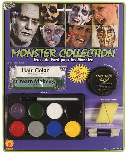 Rubie'smplete Monster Makeup Kit, White, One Size -