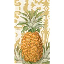 Entertaining with Caspari  15-Pack Royal Pineapple Gold Guest Towels