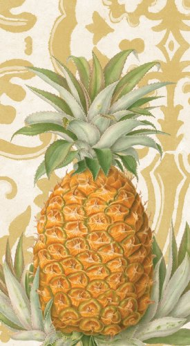entertaining-with-caspari-15-pack-royal-pineapple-gold-guest-towels