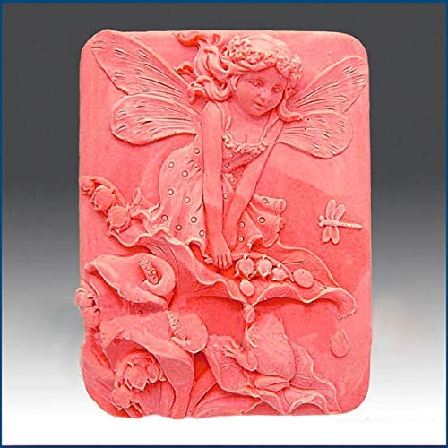 Silicone Mold Cathy Fairy of The Calla Lilies Silica Gel soap Moulds Jelly Candy Mould Silicone Soap Plaster Clay Molds