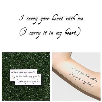 Tatuaje Temporal Tattify - Frase Carga Tu Corazón - Seguir (Juego ...