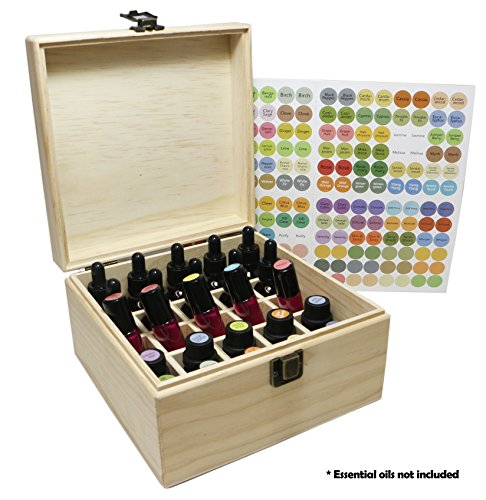 SXC 25 Slot Wooden Essential Oil Box/case, holds 25 5-5ml&10ml Roller Bottles, Perfect Essential Oil Storage/organizer Case For Travel and Presentation by SXC (Image #6)