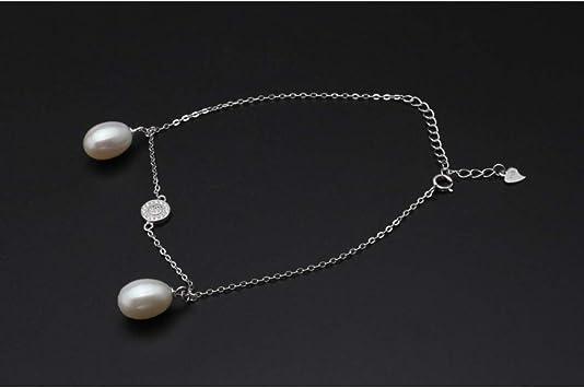 Fußkette mit Süßwasser-Zuchtperlen 925 Silber