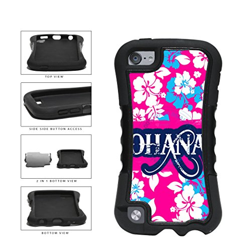 (BleuReign(TM) Ohana On Floral Background 2-Piece Dual Layer Phone Case Back Cover For Apple iPod Touch 5th Generation)