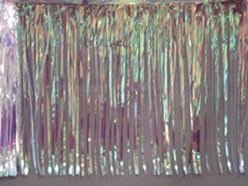 Metallic Clear Iridescent Fringed Valance Party Decoration Garland 10 Ft Long X 15