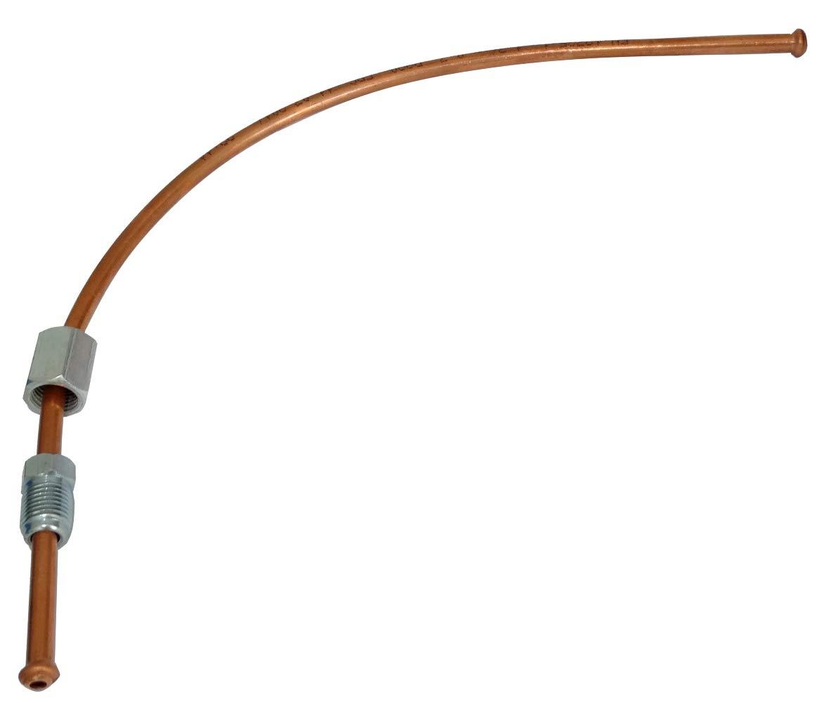 AERZETIX Tubo per freno in rame /Ø4.76mm con raccordi F10x1//M10x1 250cm