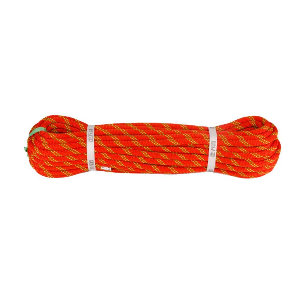 Orange MODKOY la Corde d'escalade Outdoor de l'escalade de Corde Statique 9mm   10 mm  12 mm   14 mm de diamètre 9mm10meters