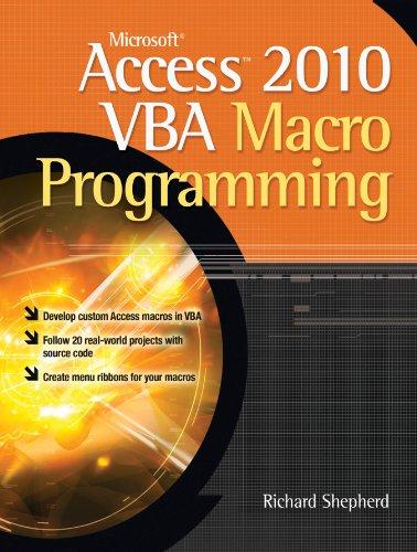 Download Microsoft Access 2010 VBA Macro Programming Pdf