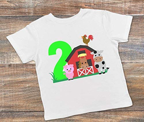 Amazon 2 Year Old Farm Theme Birthday Party Shirt