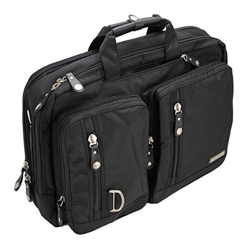 TGLOE Dual-Use Unternehmen Laptop Rucksack Atmungsaktiv Groß Kapazität Nylon Rucksack Frauen Und Mann Laptop Rucksack (Fit Für 14 ~ 17 Zoll Laptop) (L, Schwarz)