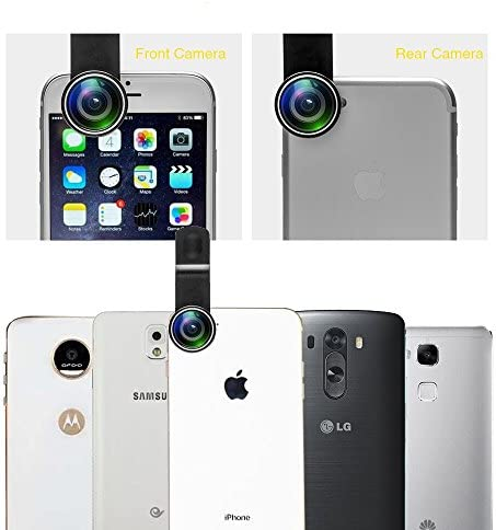 11 in 1 Cell Phone Camera Lens Kit Wide Angle Lens & Macro Lens+Fisheye Lens+Telephoto Lens+CPL/Flow/Radial/Star/Soft Filter+Kaleidoscope Lens Compatible for iPhone Samsung Sony and Most of Smartphone 515WalzP4 2BL