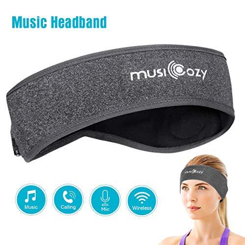 WU-MINGLU Bluetooth Sports Headband for Men Women Headband for Running Jogging Sleep