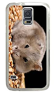 Galaxy S5 Case, Personalized Custom PC Clear Case for Samsung Galaxy S5 Hanster Nut Cover