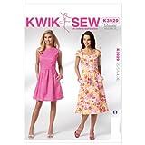 Kwik Sew K3929 Misses Dresses Sewing Pattern, Size XS-S-M-L-XL