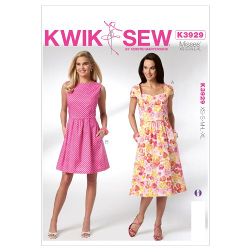 Kwik Sew K3929 Misses Dresses Sewing Pattern, Size XS-S-M-L-XL (Princess Dress Sew)