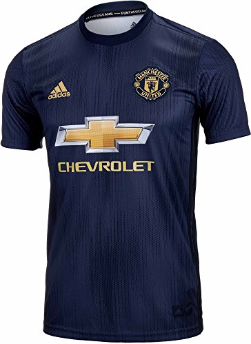 adidas Manchester United Youth 3rd Soccer Jersey (Medium) Navy