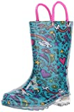 Western Chief Girls Waterproof Rain Boots That Light up with Each Step, Sketchbook, 10 M US Toddler