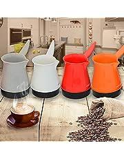 ماكينة تحضير القهوة التركية، كاتل محمول من الستانلس ستيل 500 وات، قطعة واحدة، لون عشوائي