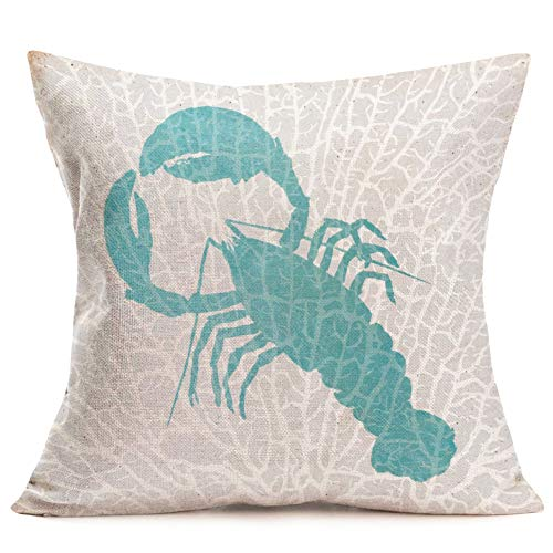 Smilyard Vintage FreshSeafood Throw Pillow Covers BigLobster Home